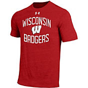 Under Armour Men's Wisconsin Badgers Red Triblend T-shirt