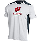 Under Armour Men's Wisconsin Badgers Raid Performance White T-shirt