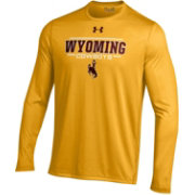 Under Armour Men's Wyoming Cowboys Gold Long Sleeve Tech T-Shirt