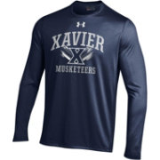 Under Armour Men's Xavier Musketeers Navy Long Sleeve Tech T-Shirt