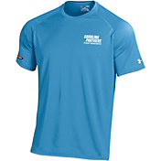 Under Armour NFL Combine Authentic Men's Carolina Panthers Wordmark Tech Blue Performance T-Shirt