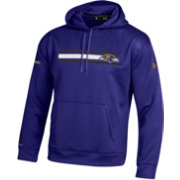 Under Armour NFL Combine Authentic Men's Baltimore Ravens Stripe Armour Fleece Purple Performance Hoodie