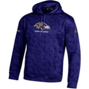 Under Armour NFL Combine Authentic Men's Baltimore Ravens Armour Fleece Novelty Purple Hoodie