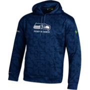 Under Armour NFL Combine Authentic Men's Seattle Seahawks Armour Fleece Novelty Navy Hoodie