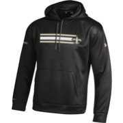 Under Armour NFL Combine Authentic Men's New Orleans Saints Stripe Armour Fleece Black Performance Hoodie