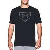 Under Armour Men's Baseball Plate Logo Graphic T-Shirt