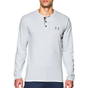 Under Armour Men's Tri-Blend Henley Long Sleeve Shirt