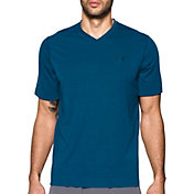 Under Armour Men's Threadborne Siro Striped Print V-Neck T-Shirt