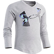 Under Armour Toddler Girls' Tri Meta Cropped Logo Long Sleeve Shirt