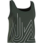 Under Armour Women's Fly By Graphic Running Midi Tank Top