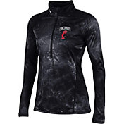 Under Armour Women's Cincinnati Bearcats Fusion UA Tech Black Half-Zip Shirt