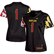 Under Armour Women's Maryland Terrapins #1 Replica Black  Football Jersey
