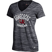 Under Armour Women's South Carolina Gamecocks Black UA Space Tech V-Neck T-Shirt