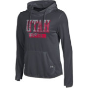 Under Armour Women's Utah Utes Grey Front Pullover Hoodie