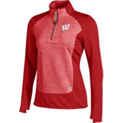 Under Armour Women's Wisconsin Badgers Red Eclipse Microfleece Half-Zip Shirt