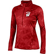 Under Armour Women's Wisconsin Badgers Red Fusion UA Tech Half-Zip Shirt