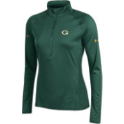 Under Armour NFL Combine Authentic Women's Green Bay Packers Tech Green Quarter-Zip Performance Pullover