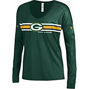 Under Armour NFL Combine Authentic Women's Green Bay Packers Team Stripe Green Long Sleeve Shirt