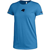 Under Armour NFL Combine Authentic Women's Carolina Panthers Logo Tech Blue Performance T-Shirt