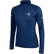 Under Armour NFL Combine Authentic Women's Los Angeles Rams Tech Navy Quarter-Zip Performance Pullover