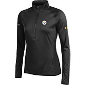 Under Armour NFL Combine Authentic Women's Pittsburgh Steelers Tech Black Quarter-Zip Performance Pullover