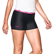 Under Armour Women's 3'' Power In Pink HeatGear Compression Shorts