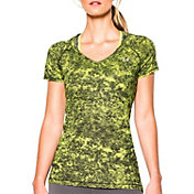 Under Armour Women's HeatGear Armour Printed Mesh V-Neck T-Shirt