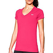 Under Armour Women's HeatGear Armour Mesh V-Neck T-Shirt