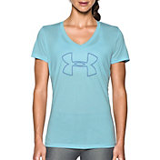Under Armour Women's Tech Branded V-Neck T-Shirt