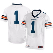 Under Armour Youth Auburn Tigers White #1 Replica Football Jersey