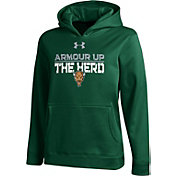 Under Armour Youth Marshall Thundering Herd Green Armour Fleece Hoodie