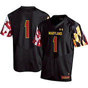 Under Armour Youth Maryland Terrapins #1 Replica Black Football Jersey