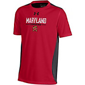Under Armour Youth Maryland Terrapins Red Colorblock T-shirt