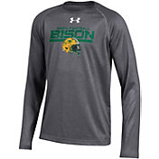 Under Armour Youth North Dakota State Bison Grey Long Sleeve Tech Performance T-Shirt