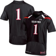 Under Armour Youth Texas Tech Red Raiders #1 Replica Black Football Jersey
