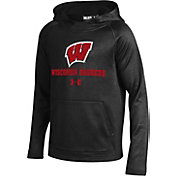 Under Armour Youth Wisconsin Badgers Ninja Black Hoodie