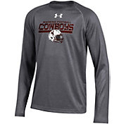 Under Armour Youth Wyoming Cowboys Grey Long Sleeve Tech Performance T-Shirt
