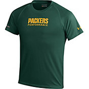 Under Armour NFL Combine Authentic Youth Green Bay Packers Wordmark Tech Green Performance T-Shirt
