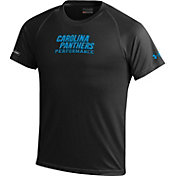 Under Armour NFL Combine Authentic Youth Carolina Panthers Wordmark Tech Black Performance T-Shirt