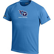 Under Armour NFL Combine Authentic Youth Tennessee Titans Logo Tech Blue Performance T-Shirt