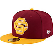 New Era Men's USC Trojans Cardinal/Gold Grand 59Fifty Fitted Hat