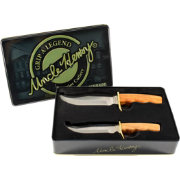 Uncle Henry Two Piece Bowie Point Fixed Blade Knife Combo
