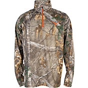 University of Texas Authentic Apparel Men's Texas Longhorns Climate Camo Quarter-Zip Shirt