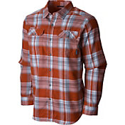 Columbia Men's Texas Longhorns Burnt Orange Plaid Flare Gun Flannel Long Sleeve Shirt