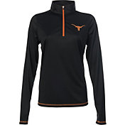 University of Texas Authentic Apparel Women's Texas Longhorns Black Quarter-Zip Shirt
