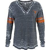 University of Texas Authentic Apparel Women's Texas Longhorns Sidney Black Henley T-Shirt