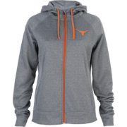 University of Texas Authentic Apparel Women's Texas Longhorns Grey Marilla Full-Zip Hoodie