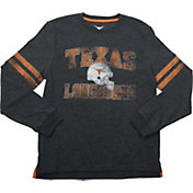 University of Texas Authentic Apparel Youth Texas Longhorns Charcoal Gerry Football Long Sleeve Shirt
