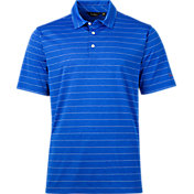 Walter Hagen Men's Americana Heather Pop Stripe Golf Polo