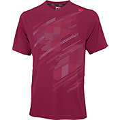 Wilson Men's Blur Plaid V-Neck Tennis Shirt